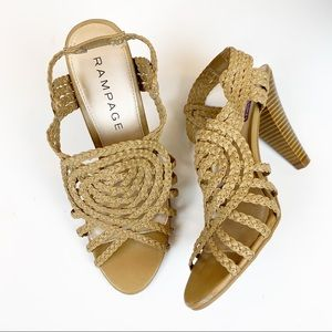 Rampage woven slingback sandals heels shoes